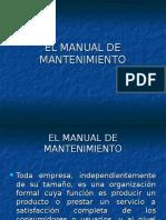 EL MANUAL DE MANTENIMIENTO.ppt