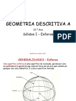 Solidos e Esferas - Geometria Descritiva