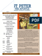 St. Peter the Apostle Weekly Bulletin 5-7-17