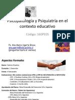 Psicopatología y Psiquiatría en El COE Unidad 1 y 2