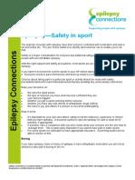 Epilepsy Safety in Sport