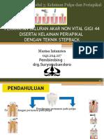 perawatan endodontik gigi 44