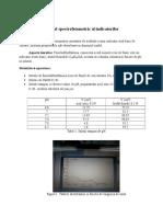 Studiul Spectrofotometric Al Indicatorilor