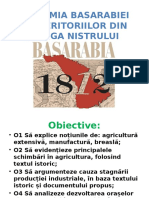 Economia Basarabiei Și a Teritoriilor Din Stânga Nistrului