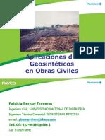 Aplicaciones de Geosinteticos en Obras Civiles 2016