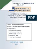 Producción de Cunas –Comedor Para Infantes en La Provincia de Huancayo (1)
