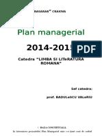 Plan Managerial Catedra Romana