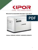 Generador KNE9000 a Gas Natura ESPA OL