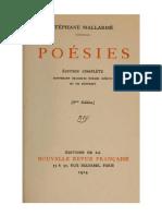 Poésies (Mallarmé, 1914, 8e Éd.)