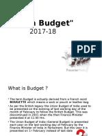Budget Presentatin