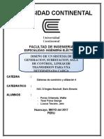 Diseño de Un Sistema de Generacion, Subestacion, Sala de Control, Lineas de Transmision Para Una Determinada Carga