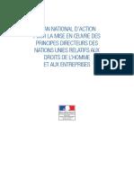 Plan National D'Action - DROITS DE L'HOMME ET AUX ENTREPRISES - France