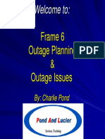 Frame 6 Outage Planning