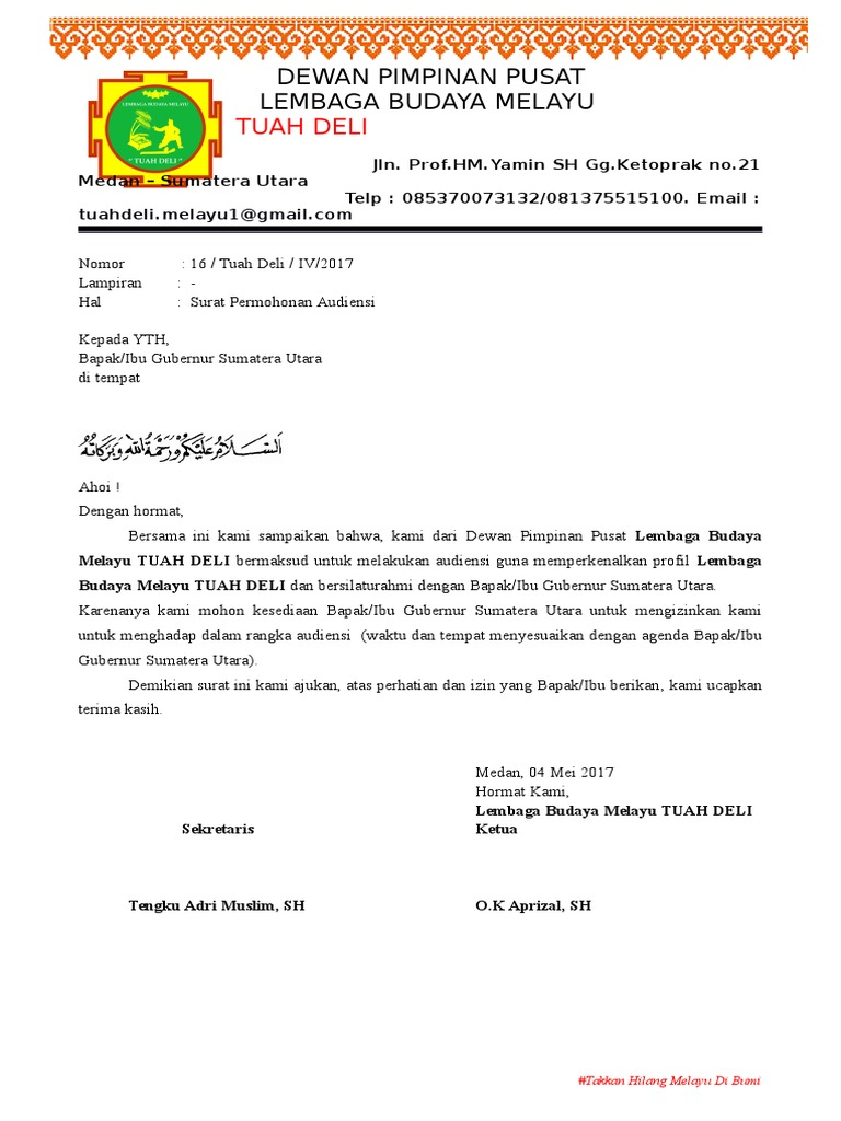 Surat Audiensi