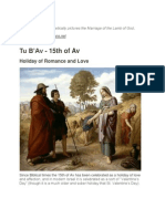 Tu B' Av (Marriage of the Lamb?)