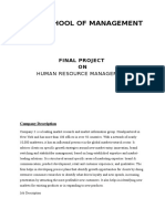 Human Resource Management Report for Innovation Manager