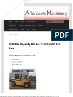 25,000lb. Capacity Cat Air-Tired Forklift for Sale _ Call 616-200-4308