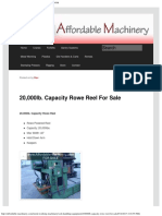 20,000lb. Capacity Rowe Reel for Sale _ Call 616-200-4308
