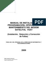 Manual Del Modem Satelital Vsat Version 03-B-2009 Uso Interno