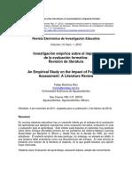 Investigación Empírica Sobre El Impacto de La Evaluación Formativa