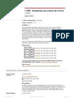 Plan de Cours - Introduction aux sciences de la Terre
