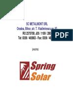 Prezentare Panouri Solare Metalmont