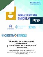 Situación de la seguridad alimentaria  y la nutrición en la República Dominicana