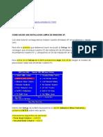 Formatear e Instalar W XP