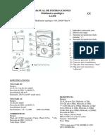 Multímetro Analógico 06-1250 (Equiv. YX-360TR)