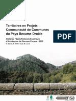 Territoires en Projets 2015 - Communauté de Communes  du Pays Beaume-Drobie