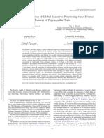 Psicopatia e Funcionamento Executivo