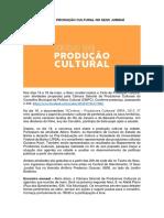 CICLO DE PRODUÇÃO CULTURAL NO SESC