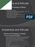 anesthesia e altitude