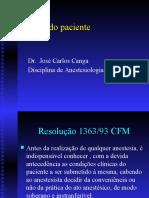 Aula Canga - Preparo Do Paciente Para a Anestesia