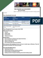 reading log assignment sheet