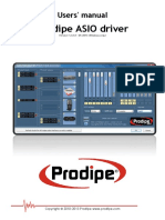 Prodipe ASIO Driver Manual
