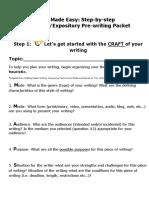 informativeexpositoryprewritingpacket