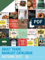 Chronicle Books UK Adult Trade Autumn 2017 Backlist Catalogue
