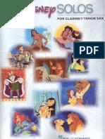 Disney SOLOS for Clarinet - Partituras