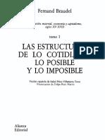 Civilizacion Material Economia Y Capitalismo Siglos XV - XVIII - Tomo I (Braudel, Fernand)