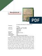 مقدمة ابن خلدون-- Mukadimah Ibnu Khaldun extrak