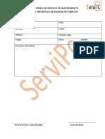 Orden de Servicio. PDF
