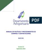 m.cc.01 Manual de Politicas y Procedimientos de Compras y Contrataciones