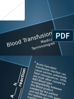 Blood Transfusion Terms