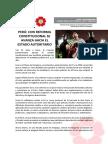 Perú - con reforma constitucional se avanza hacia el estado autoritario