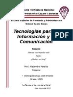 Ensayo TICs Domínguez Arriaga