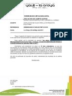 Imforme Sobre Ampliacion de Plazo Para Entregar Imformacion Estado d Eobras