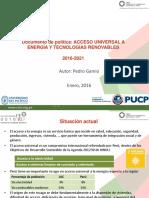 Acceso Universal a Energia y Tecnologias Renovables