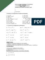 Clase Práctica No.5 Prod Notables y Ecuaciones