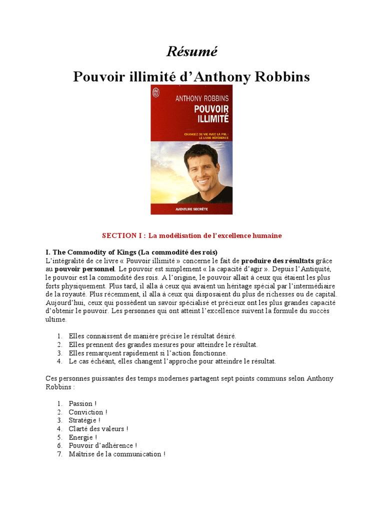 POUVOIR ILLIMIT ANTHONY ROBBINS PDF TÉLÉCHARGER